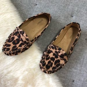 Old navy leopard print driving loafer moccasin sz9